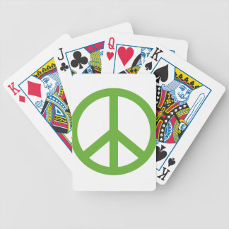 Green Peace Sign Symbol Bicycle Playing Cards