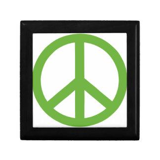 Green Peace Sign Symbol Gift Box