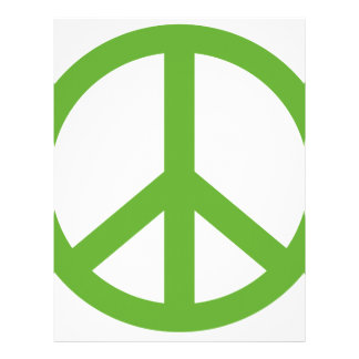 Green Peace Sign Symbol Letterhead