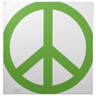 Green Peace Sign Symbol Napkin