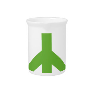 Green Peace Sign Symbol Pitcher