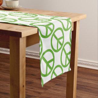Green Peace Sign Symbol Short Table Runner