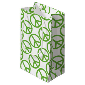 Green Peace Sign Symbol Small Gift Bag