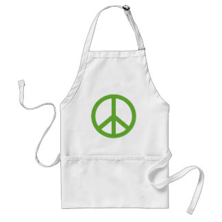Green Peace Sign Symbol Standard Apron