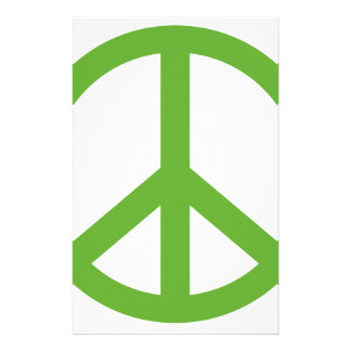 Green Peace Sign Symbol Stationery