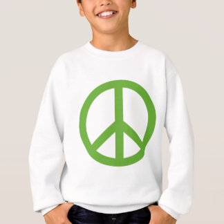 Green Peace Sign Symbol Sweatshirt