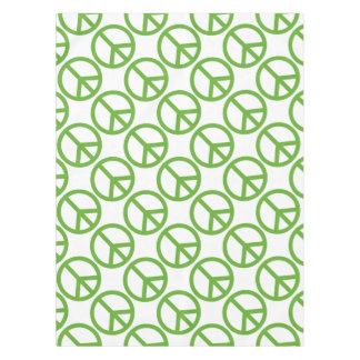 Green Peace Sign Symbol Tablecloth