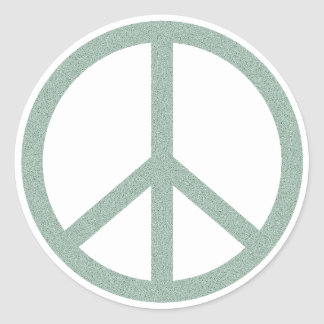 Green Peace Symbol Classic Round Sticker