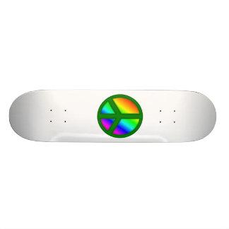 Green Peace Symbol Skateboard