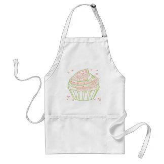 green_peach_cupcake_with_icing standard apron