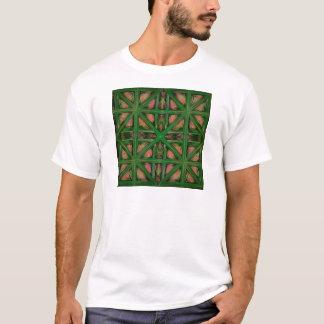 Green Peach Plaid T-Shirt