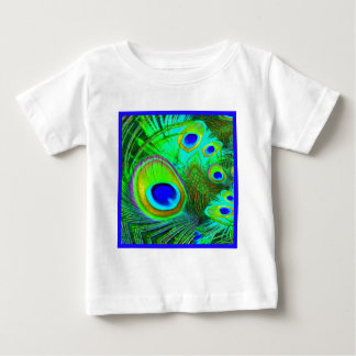 Green Peacock Feather Eyes Gifts Baby T-Shirt