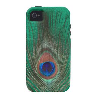 Green Peacock Feather iPhone 4 Tough Case