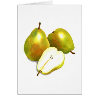 Green Pears Note Card