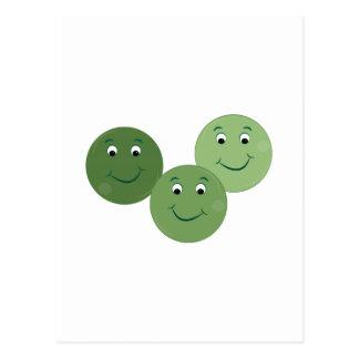 Green Peas Postcard