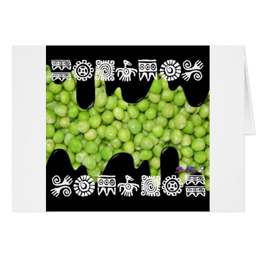 GREEN PEAS PRODUCTS GREETING CARD