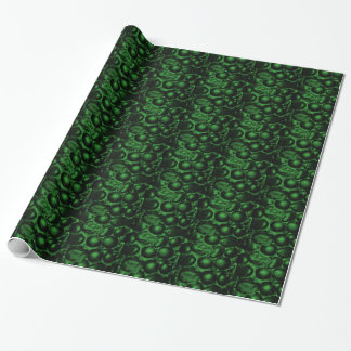 Green Pebbled Glam Wrapping Paper