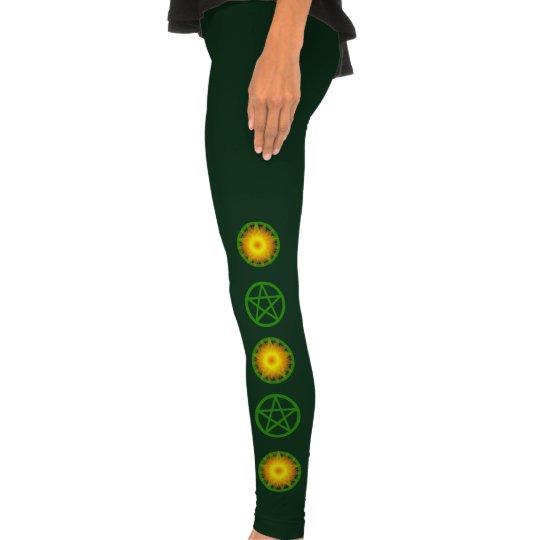 Green Pentacles Leggings