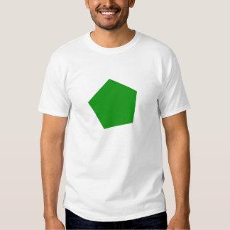 Green pentagon shirt