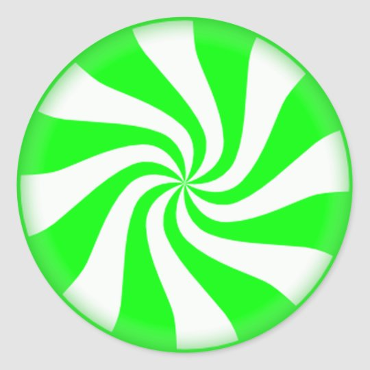 Green Peppermint Candy Stickers
