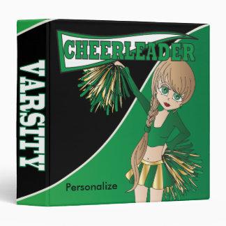 Green Personalize Diva Cheerleader Binders