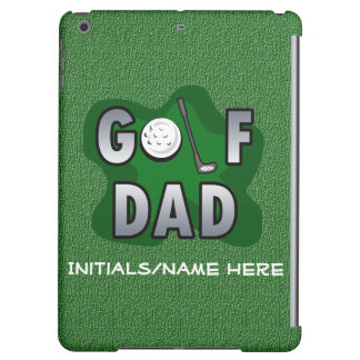 Green Personalized Golf Dad iPad Air Covers