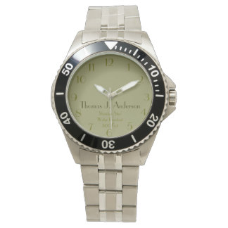 Green Personalized Military Style Watch