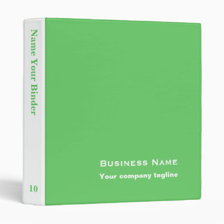 Green - Personalized Office Binders
