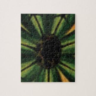 green petal flowers jigsaw puzzle