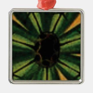 green petal flowers metal ornament