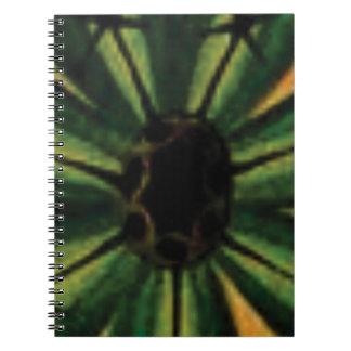 green petal flowers notebooks