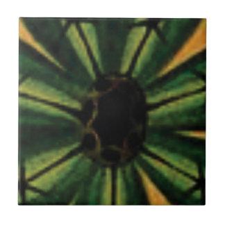 green petal flowers tile