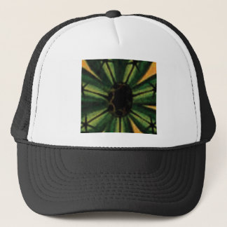 green petal flowers trucker hat