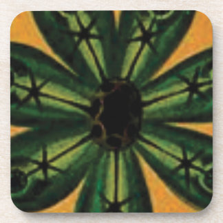 green petal stemm coaster