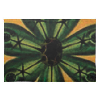green petal stemm placemat