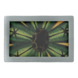 green petal stemm rectangular belt buckle