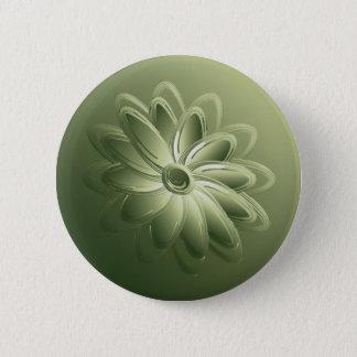 green petals 2 inch round button