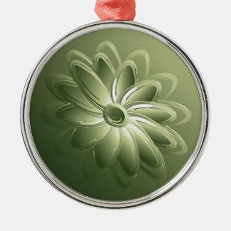 green petals metal ornament