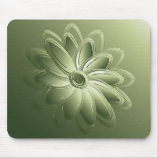 green petals mouse pad