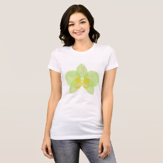 Green phalaenopsis orchid t-shirt