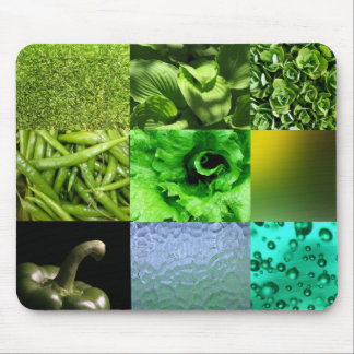 Green Photo Collage Mouse Pad