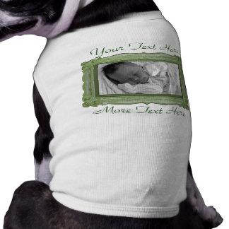 Green Photo Frame Pet Clothing