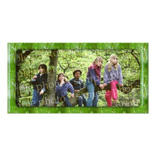 Green photo frame - Photo Card