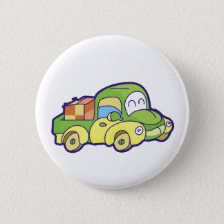Green Pickup Truck 2 Inch Round Button