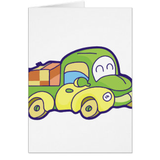 Green Pickup Truck Card