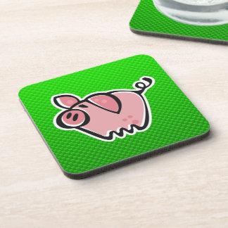 Green Pig Beverage Coasters