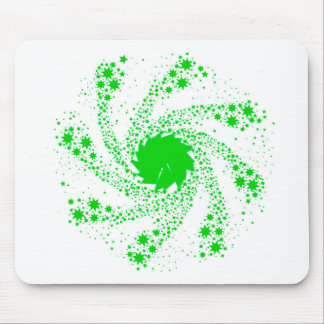Green Pin Wheel Mouse Pad