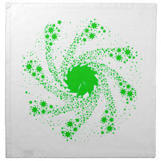 Green Pin Wheel Napkin