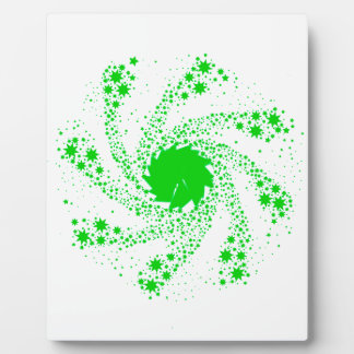 Green Pin Wheel Plaque