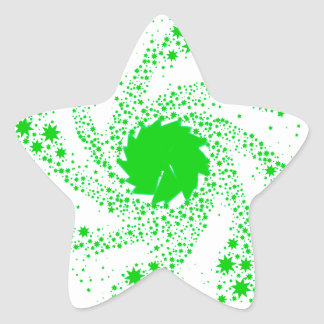 Green Pin Wheel Star Sticker